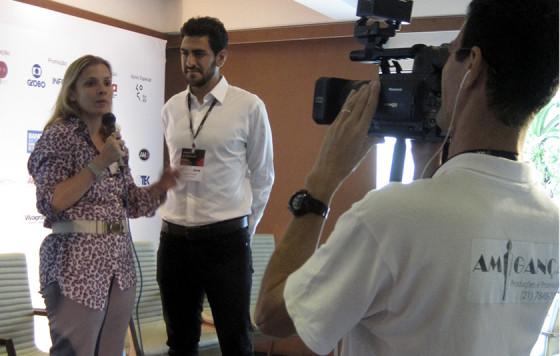 Entrevista com o fundador do Fullscreen, multicanais do You Tube, Gregory Strompolos, em um dos eventos internacionais da ABA - Rio 2015.